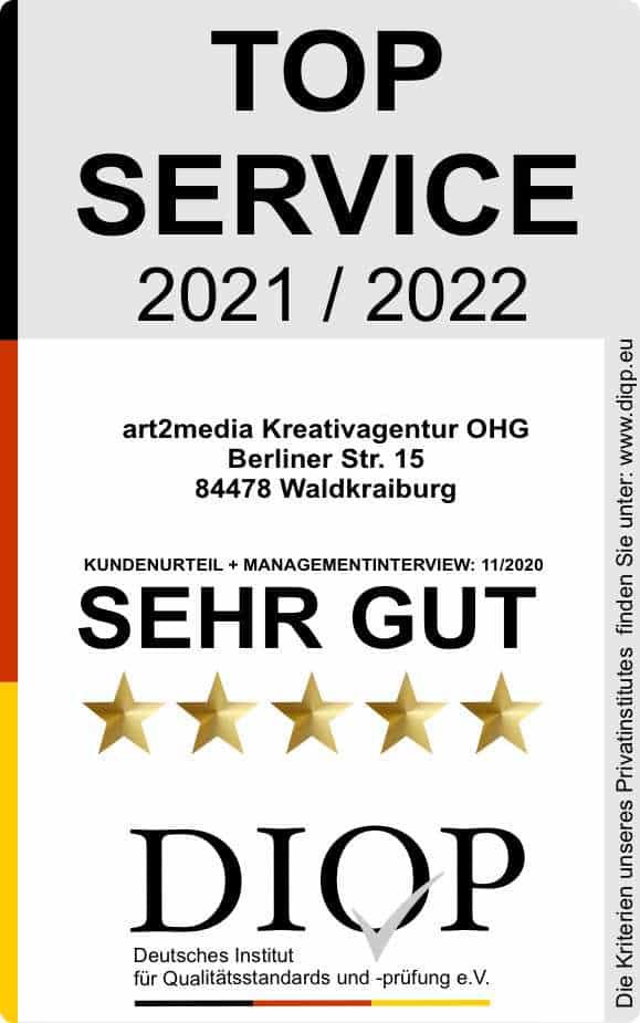art2media DIQP sehr gut 2020 bis 2022